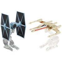 Hot Wheels Star Wars Tie Fighter Vs. X-Wing Fighter Red Two Starship 2-Pack