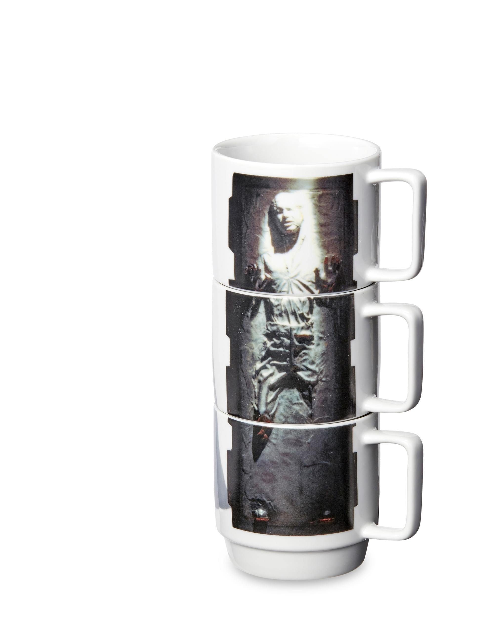 HAN IN CARBONITE STAR WARS Stacking Mugs SLAVE LEIA LANDO Ceramic 3 Set