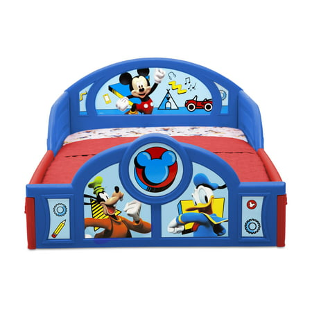 Disney Mickey Mouse Plastic Sleep and Play Toddler Bed by Delta Children