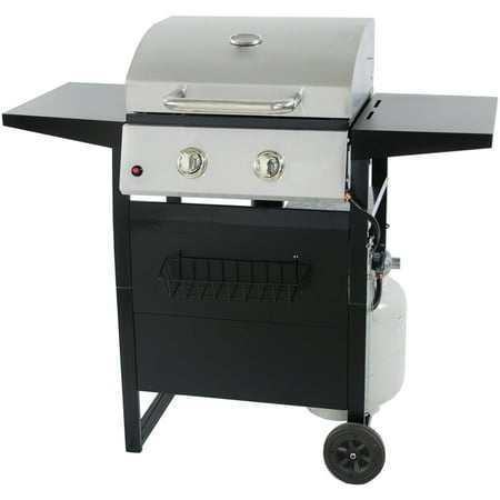 RevoAce 2-Burner Gas Grill with Stainless (Solaire Stainless Steel Portable Grill)