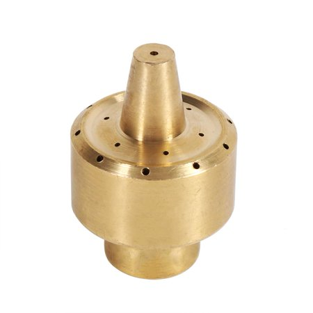 Anauto 1/4  / 1/2  / 3/4  Brass Column Garden Pond Fountain Water Nozzle Sprinkler Spray Head Gold, Brass Fountain Nozzle, Fountain Spray Head 2 Fountain Nozzles