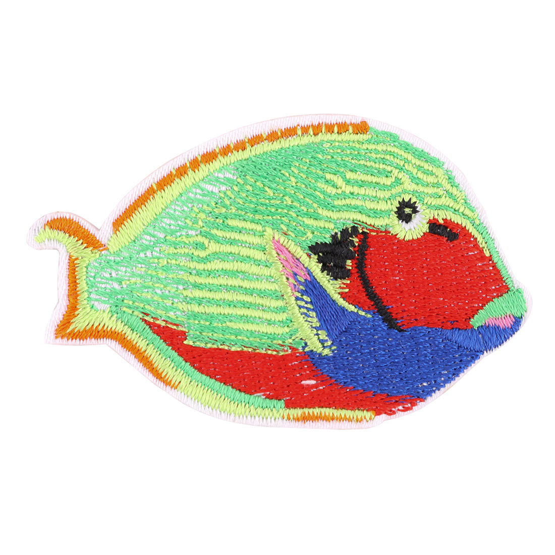 Unique Bargains Home Polyester Fish Design Embroidered DIY Sewing Craft Lace Applique Multicolor