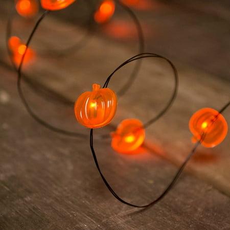 the best attitude c2003 4decc Fairy Lights Fairy Lights LED 6 foot Black Wire Battery Orange Pumpkin