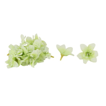 Scrapbooking Petals - Wedding Fabric Artificial Orchid Flower Head DIY Petals Craft Light Green 20pcs