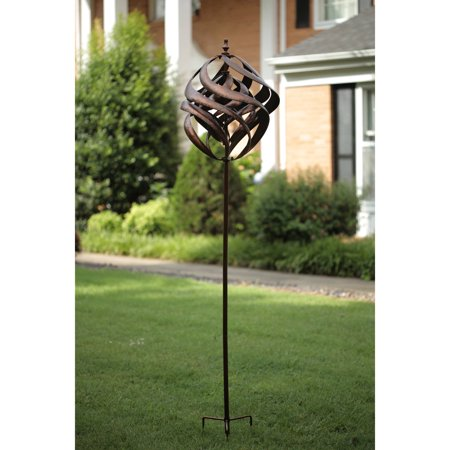 Image of Copper Spiral Wind Spinner, Yard Ornament