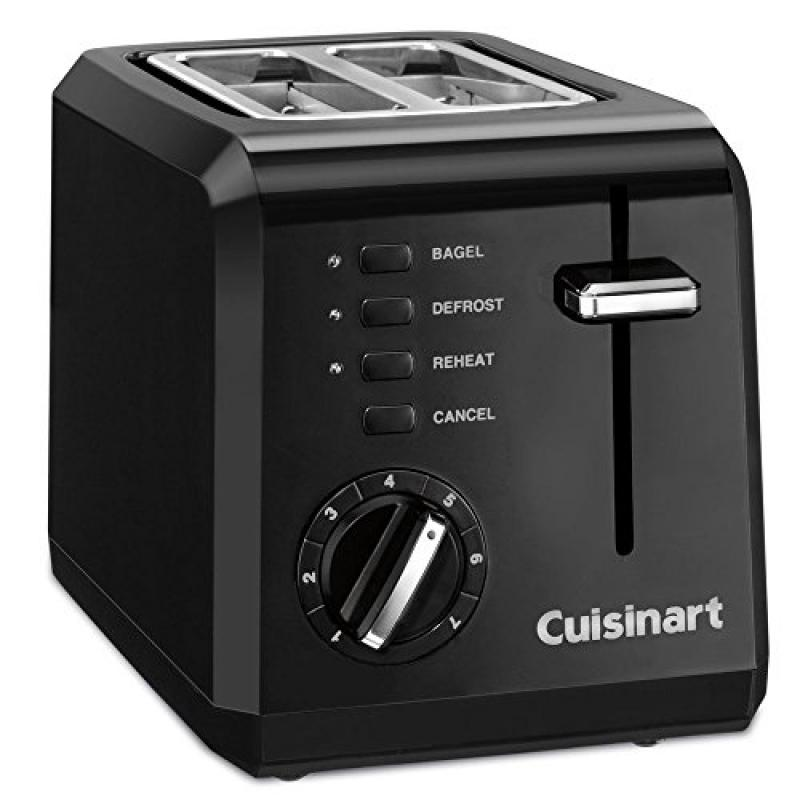 Compact 2-Slice Toaster, Black (Certified Refurbished)