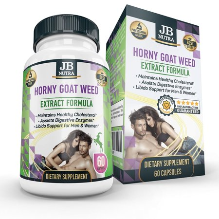 Horny Goat Weed Pills - Great Libido Booster for Men and Women, Erectile