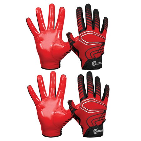 Cutters Gloves REV Pro Receiver Glove (2 Pairs) Red