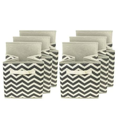 Sorbus Foldable Storage Cube Basket Bin, 6pk, Chevron - Cute Storage Boxes