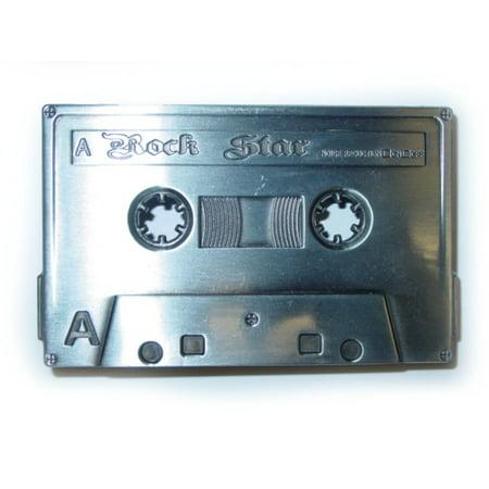 Cassette Tape Belt Buckle 80s 90s Rock Star Heavy Metal Costume Prop Retro Gift](90s Props)