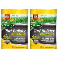 Deals on 2 Pack Scotts Turf Builder Weed & Feed 15,000 sq. ft