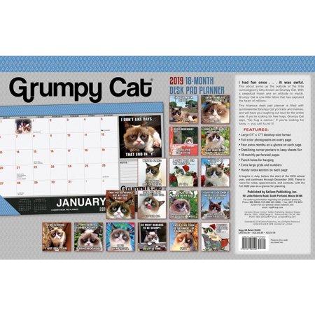2019 Grumpy Cat Desk Pad Calendar, by Sellers (Cat Desk Calendar)