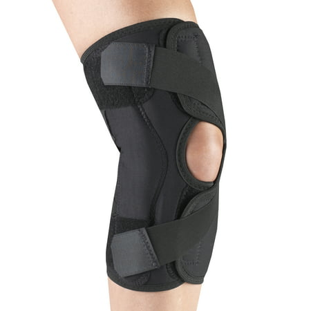OTC Orthotex Knee Stabilizer Wrap For Osteoarthritis, Left Leg, Black,