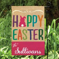 Personalized Easter Garden Flag - Happy Easter