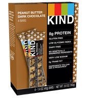 KIND Bars, Peanut Butter Dark Chocolate + 8g Protein, 4 Bars, Gluten Free