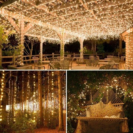 Outdoor Solar Powered 33Ft 100 LED 10M Copper Wire Light String Fairy Xmas Party ()