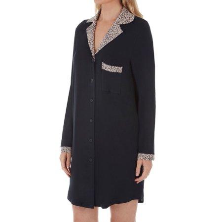 Women's Shadowline 65044 Before Bed 36 Inch Notched Collar Sleepshirt
