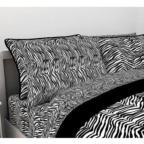 Latitude Zebra Microfiber Bedding Sheet Set