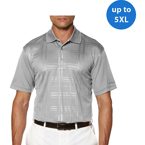 Ben Hogan Big Men's Short Sleeve EmboShort Sleeveed Plaid