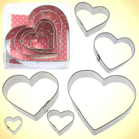 Heart Cookie Cutter - Nested Heart Cookie Cutter 6 Pc Set - Foose Cookie Cutters - US Tin Plate Steel