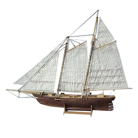 1:120 Scale Wooden Wood Sailboat Ship Kits Home Model Decoration Boat Toy Gift