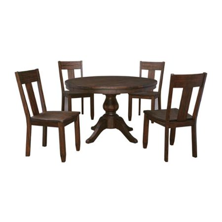 Signature Design By Ashley Trudell Dark Brown Table And Four Chairs Set