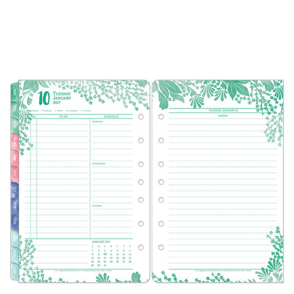 Franklin Classic Flora Daily Ring-bound Planner - Jan 201...