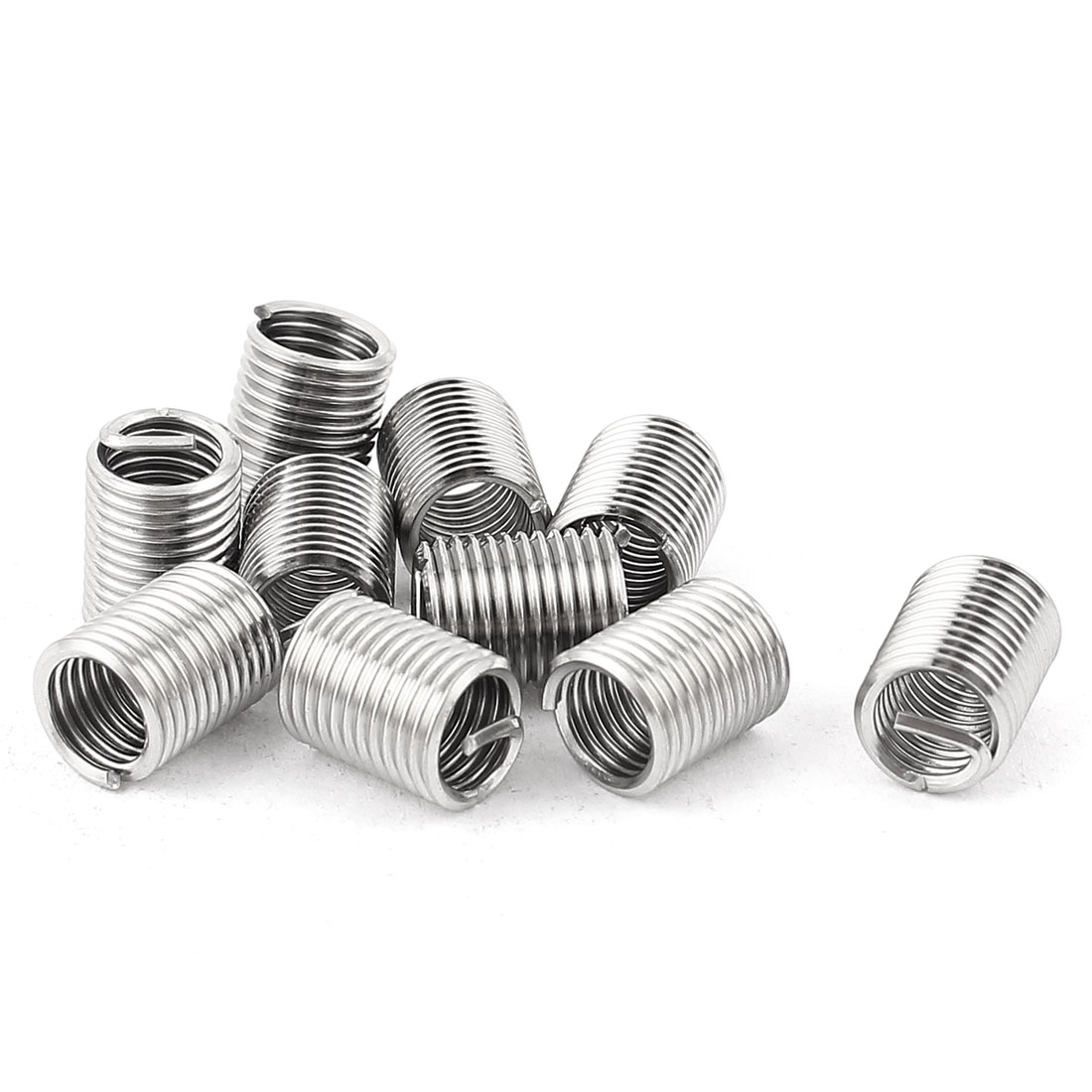 10Pcs 304 Stainless Steel Helicoil Wire Thread Repair Inserts M6 x 1mm x 2.5D