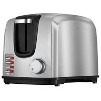 BLACK+DECKER 2-Slice Toaster with Extra-wide Slots, Stainless Steel, T2707S