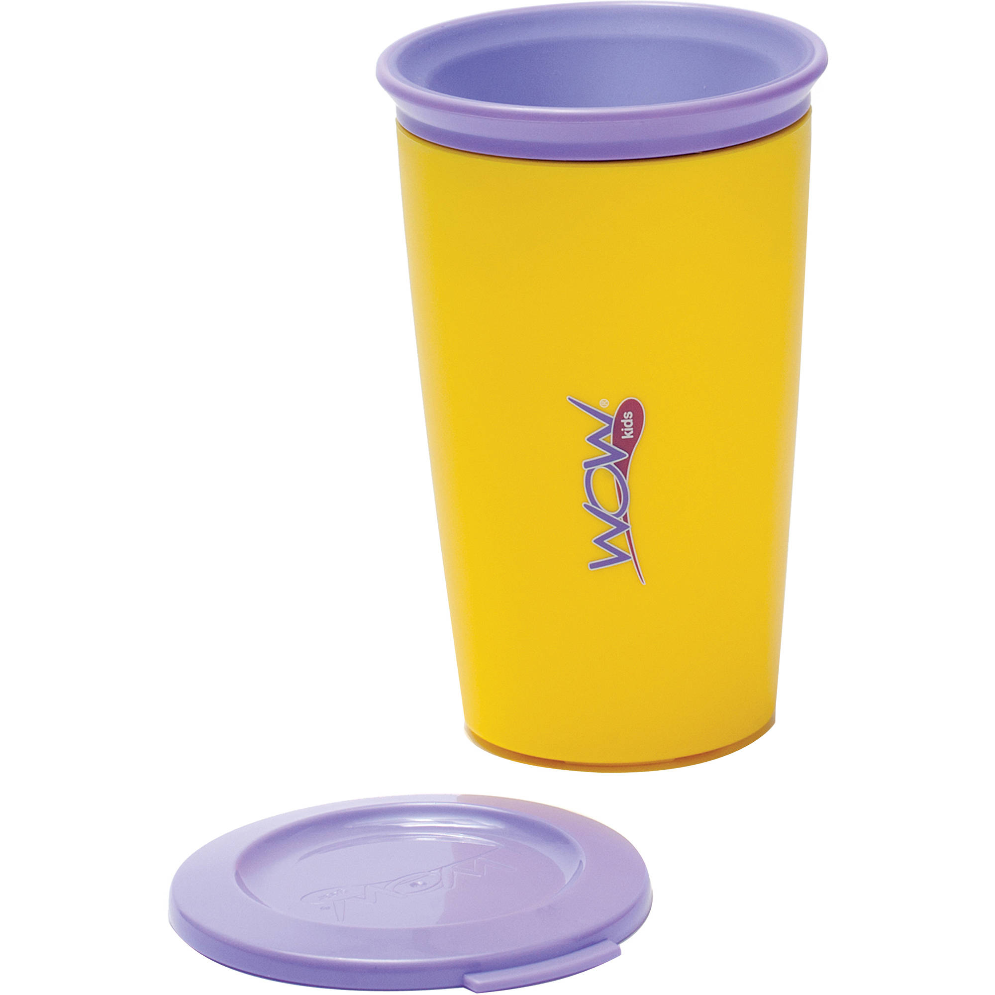 WOW Gear WOW Cup for Kids 360 Spill-Free Cup, Yellow Purple by Wow Gear