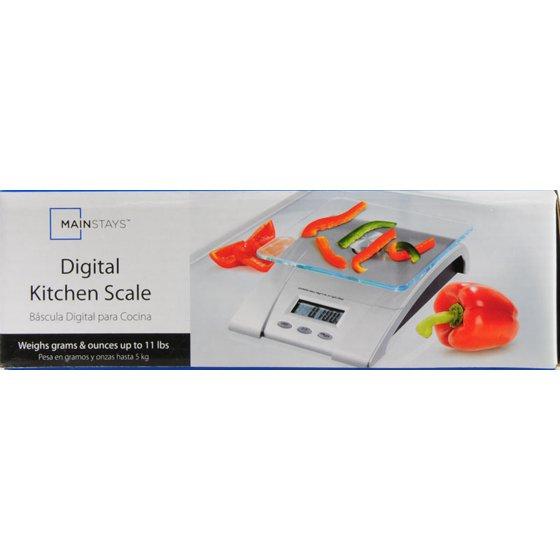 Mainstays Glass Digital Kitchen Scale - Walmart com