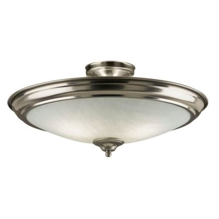 (Westinghouse 6434000 2 Light Semi-Flush Ceiling Fixture with Frosted Glass Shade)