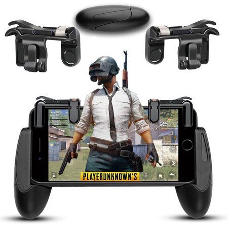 Phone Mobile Gaming Trigger Fire Button Handle + Mobile Game Controllers for Shooter Controller PUBG EPB