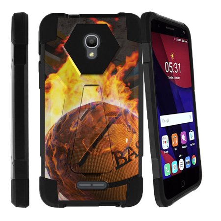 Whistle Pops (Alcatel One Touch Fierce 4 and Pop 4 Shock Fusion Heavy Duty Dual Layer Kickstand Case -  Ball is)