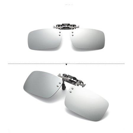 df1b4c85dff Detachable Night Vision Lens Driving Metal Polarized Clip On Glasses  Sunglasses - Walmart.com