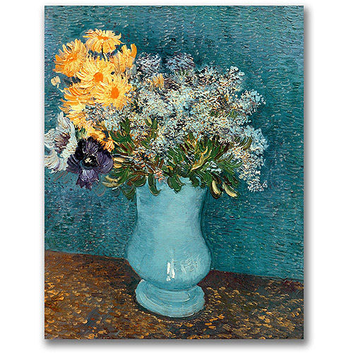 "Trademark Fine Art ""Vase of Flowers"" Canvas Wall Art by Vincent van Gogh"