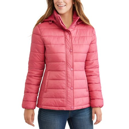Time and Tru Women's Hooded Puffer Jacket