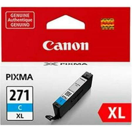 Canon grand format 0337C001 CLI-271XL haut rendement, encre, cyan - image 1 de 1