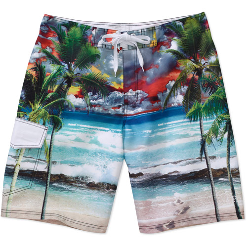 OP - Men's Beach Scene Swim Trunk