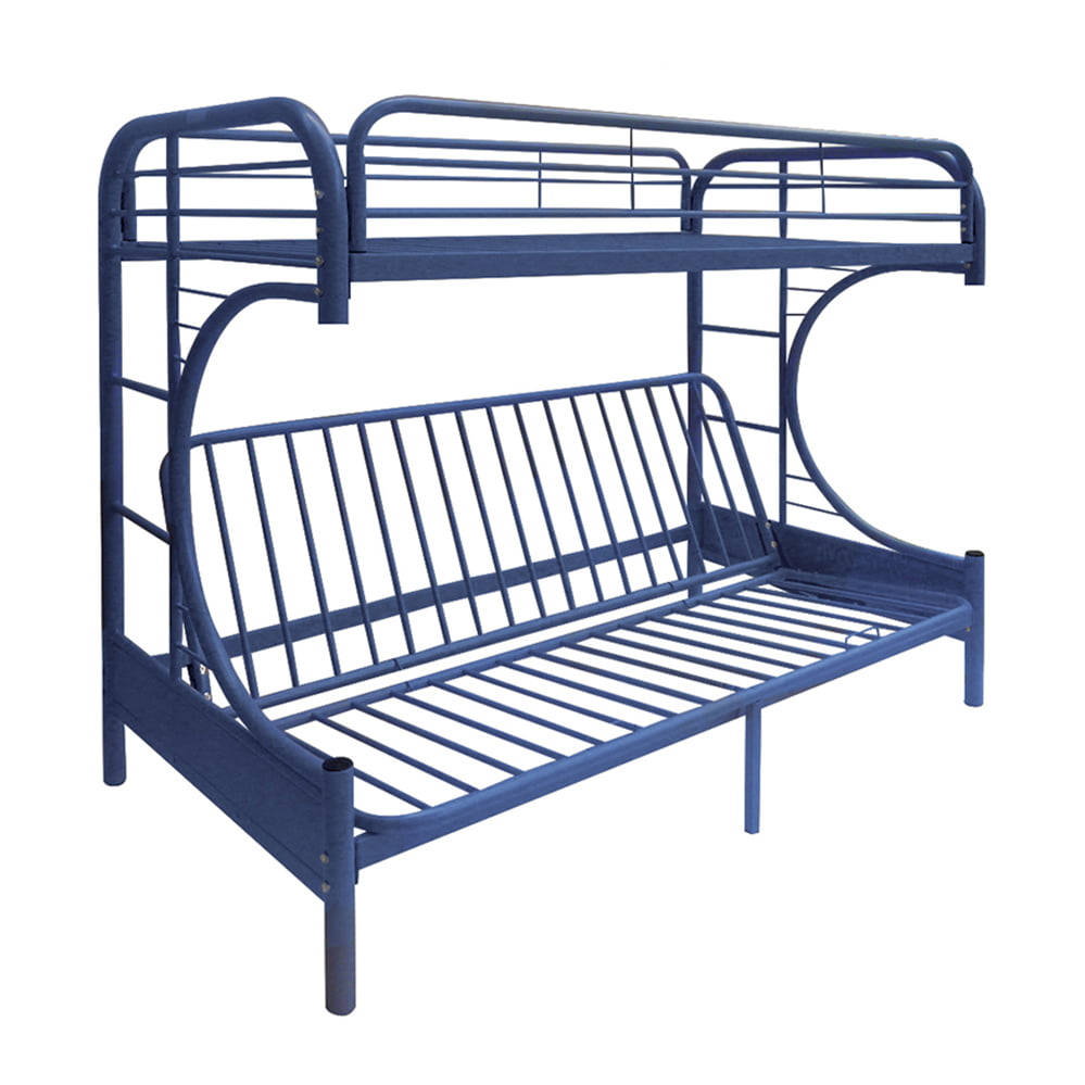 Acme Eclipse Twin Over Full Futon Bunk Bed Navy Walmart Com