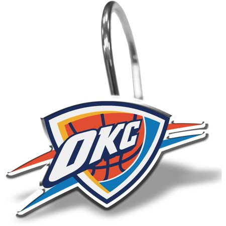 NBA Oklahoma City Thunder Curtain Ring Set, 12 - Nba Ring