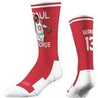 Paul George LA Clippers Strideline Premium Comfy Crew Socks - Red