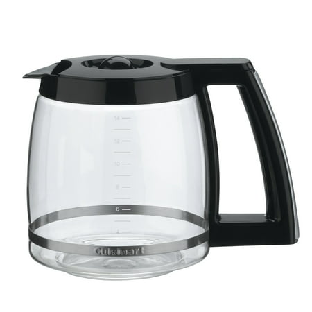- Cuisinart 14-Cup Glass Replacement Carafe with Black Trim