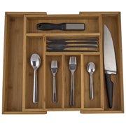 Zenware® Extendable Bamboo Drawer Organizer for Kitchen Utensils