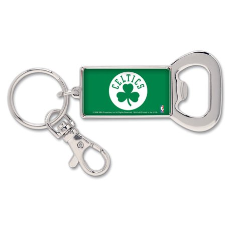 Boston Celtics WinCraft Bottle Opener Key Ring Keychain - No Size