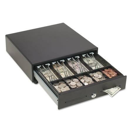 - SteelMaster Touch Release Locking Cash Drawer w/Spring-Loaded Bill Weights, Black