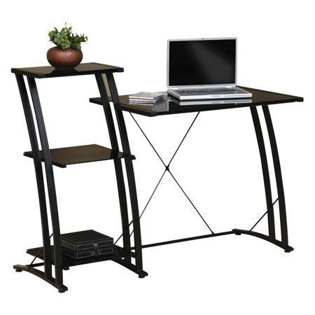 - Sauder Deco Tiered Desk, Black Finish