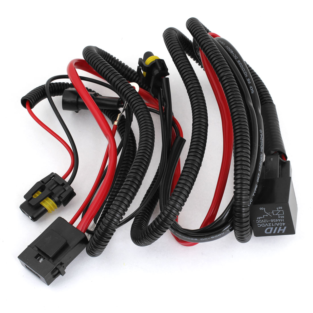 Unique Bargains Vehicles Car 9006 HID Xenon Headlight Fog Lamp Fuse Relay Wire Harness DC 12V