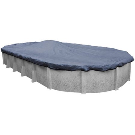 Robelle Blue Premium Mesh Xl Winter Swimming Pool Cover For Oval Above Ground Pools