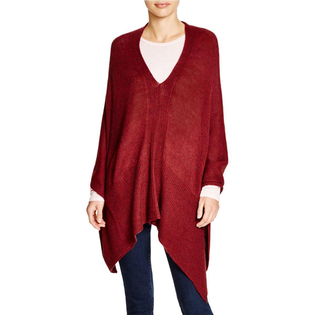 Splendid Womens Alpaca Blend Convertible Poncho Sweater